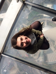 Glass Floor at the Oriental Pearl TV Tower, Shanghai, China