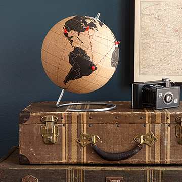 Cork Globe from UncommonGoods.con