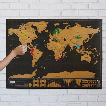 Scratch Off Map from Uncommon Goods